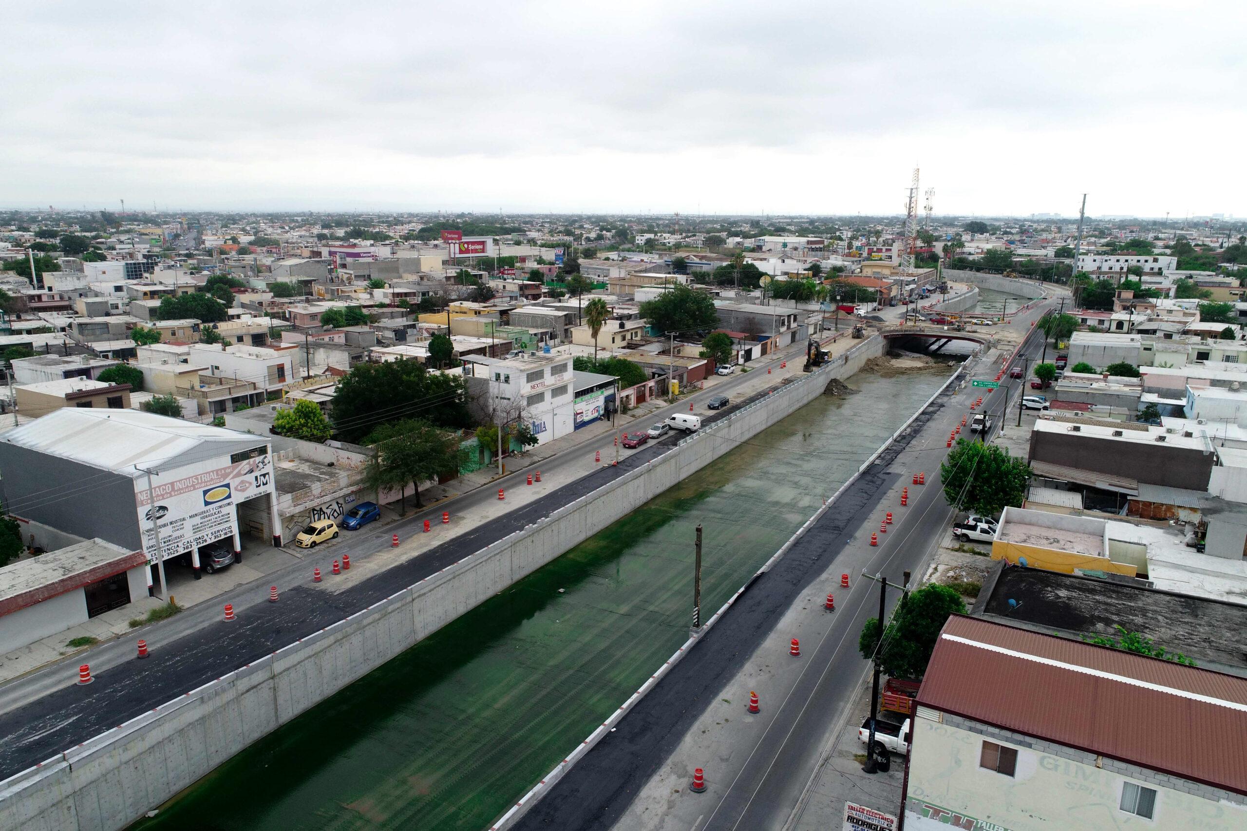 Registra 90% de avance ampliación de cauce del Arroyo Topo Chico